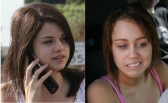 Selena Sin Nada De Maquillaje Y Miley Igual !.