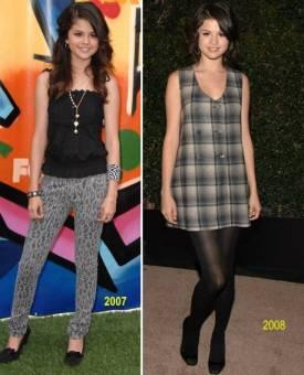 selena en el 2006 y 2007