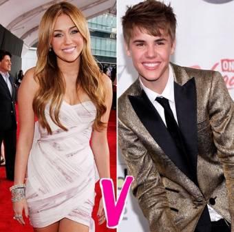 Miley cyrus vs. Justin bieber