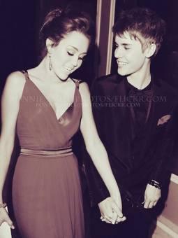 Miley con Justin