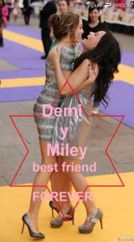 Miley y Demi Verdaderas amigas y ambas talentosas,famosas y exitosas