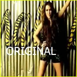 Miley cyrus en su video Party In The Usa  Original