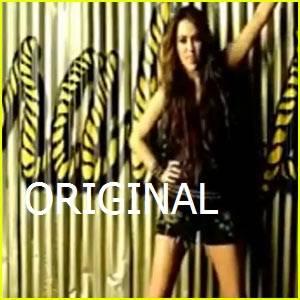 Miley cyrus en su video Party In The Usa  Original