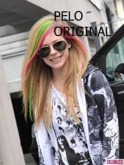 Avril Lavigne pelo de colores  ORIGINAL