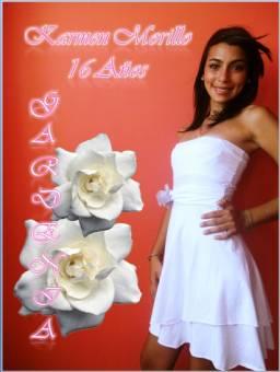 """KARMEN MORILLO, 16 AÑOS """"GARDENIA"""""""