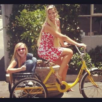 por andar en bici