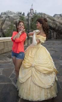 Y estuve con con Bella, de La Bella y La Bestia, en el área de la Nueva Fantasyland.