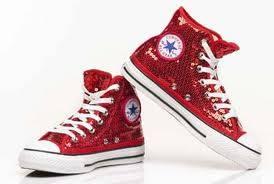zapato converse rojo