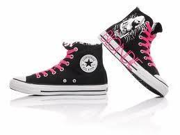 zapato converse negro