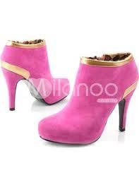 zapatos de taco rosas